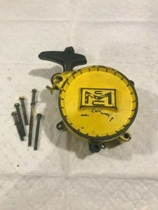 Mcculloch 1 - 70 1 - 80 Vintage Chainsaw Starter Rewind Recoil Assembly