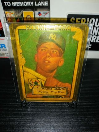 1952 Topps 311 Mickey Mantle Rookie Card