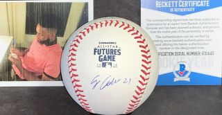 Jo Adell Angels Signed 2019 Futures Game Baseball Beckett Rookie