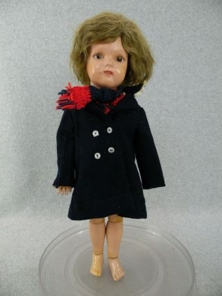 "17 "" Antique Wooden Jointed Schoenhut Miss Dolly Doll "" Tlc """