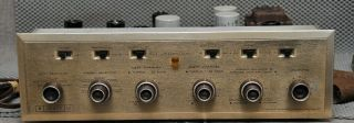 Vintage H.  H.  Scott Lc - 21 Vacuum Tube Preamplifier Freshly Serviced Great