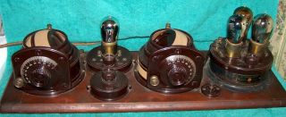 1923 Atwater Kent Model 9 Breadboard Radio.  Early Variometer Version Exc Cond