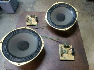 2 Tannoy Puma 15 Inch Concentric Speakers With Crossovers