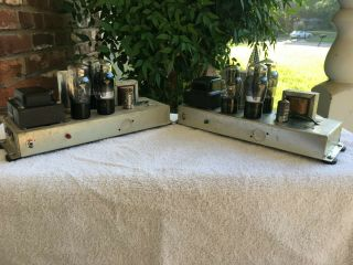 Two Vintage Magnavox Model 169 Monoblock Vacuum Tube Amps For Stereo Great Tubes