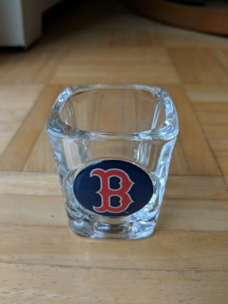 Large And Heavy Boston Red Sox Square Shot Glass - -
