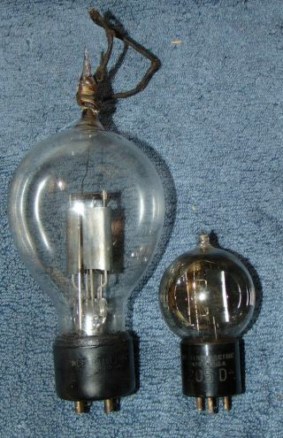 2 = Extremely Rare Western Electric 205d Plus Giant Balloon Tubes 1920 Display