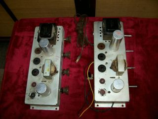 2 - Vintage Rca Integrated Mono Tube Amplifiers,  Parts Or Fixer Uppers