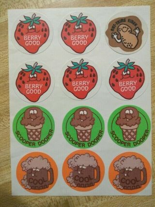 Vintage Trend Matte Assorted Scratch And Sniff Stickers On Sheet