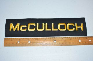 Mcculloch Iron - On Vintage Embroidered Sleeve Patch Go Kart Racing Engine Jacket