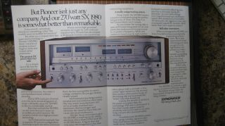 Pioneer Sx - 1980 Stereo Receiver Ad & 2 Lab Reports