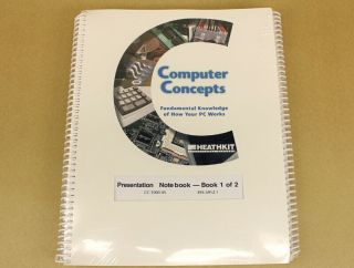 Heathkit Cc - 1000 - 45 Computer Concepts Presentation Notebook 1 & 2 Nos In Wrap