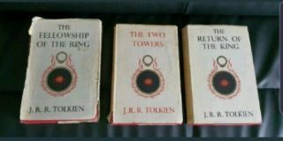 Jrr Tolkien Lord Of The Rings Trilogy Books 1st Edition (5th 3rd 5th Impression