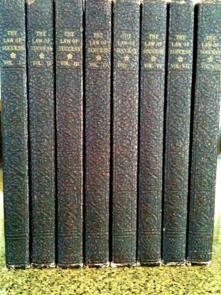The Law Of Success By Napoleon Hill 1937 2nd Printing Complete Set 8 Volumes