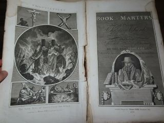 1814 Foxe Book Of Martyrs With 63 Plates Or Acts & Monuments Of The Church Fox