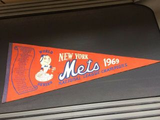 1969 Ny Mets World Series Roster Pennant - Ryan/seaver