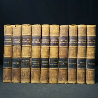 C1830/31 Writings Sermons British Reformers Religion Prophet Martyr Leper 10 Vol