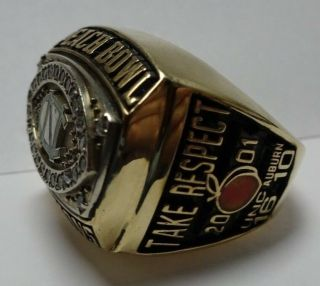 2001 North Carolina Tar Heels Peach Bowl Champions Championship Ring Football