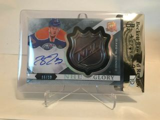 2015 - 16 Ud The Cup Connor Mcdavid Auto /10 Nhl Glory Shield Wow Case Hit
