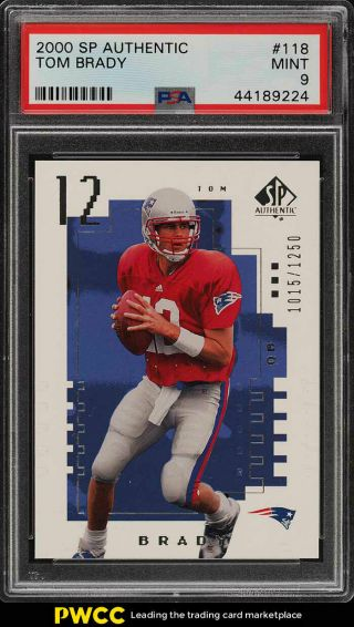 2000 Sp Authentic Tom Brady Rookie Rc /1250 118 Psa 9 (pwcc)