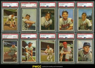 1953 Bowman Color Mid - Grade Complete Set Ford Berra Musial Mantle Psa 6 (pwcc)