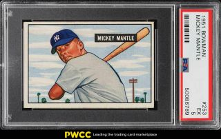 1951 Bowman Mickey Mantle Rookie Rc 253 Psa 5 Ex (pwcc)
