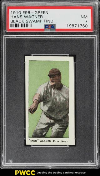 1910 E98 Set Of 30 Green Honus Wagner Black Swamp Find Psa 7 Nrmt (pwcc)