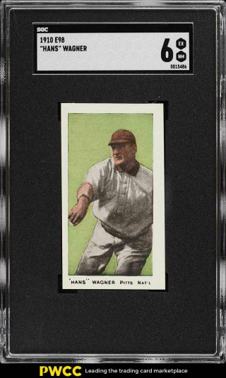 1910 E98 Set Of 30 Green Honus Wagner Sgc 6 Exmt (pwcc)