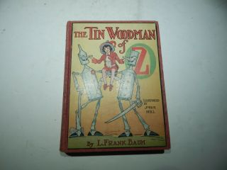 The Tin Woodman Of Oz Book By L.  Frank Baum - 1918 1st Ed.  W/ 10 Color Plates
