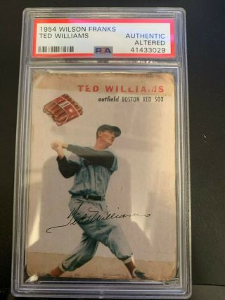 1954 Wilson Franks Ted Williams Psa A