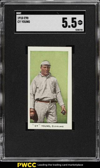 1910 E98 Set Of 30 Green Cy Young Sgc 5.  5 Ex,  (pwcc)