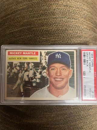 1956 Topps 135 Mickey Mantle Yankees Hof Psa 4 Vg/ex - Nicely Centered