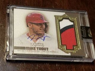 2019 Topps Dynasty Mike Trout 3 Color Patch Auto 7/10 Game Dap - Mtr5
