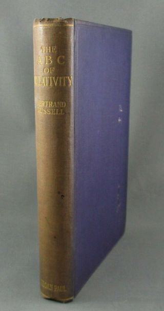 The Abc Of Relativity (1925) Rare 1st Edition - By Bertrand Russell (vg Hc)