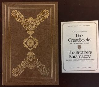 Fyodor Dostoevsky The Brothers Karamazov Franklin Library Great Books - Limited Ed