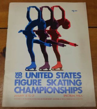 United States Figure Skating Championships 1968 Program J69168