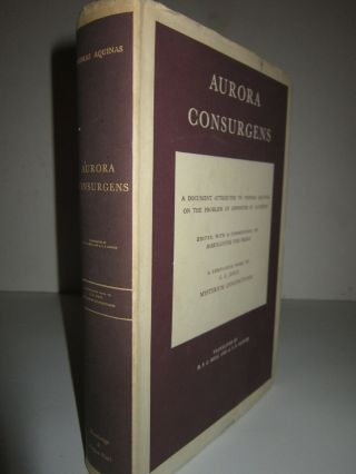 Aurora Consurgens Thomas Aquinas On Alchemy C.  G.  Jung Mysterium Coniunctionis Dj