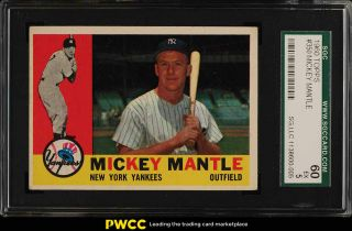 1960 Topps Mickey Mantle 350 Sgc 5 Ex (pwcc)
