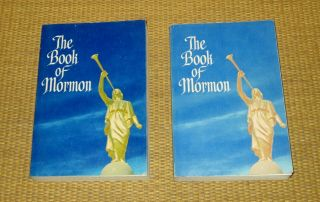 Book Of Mormon | Blue Angel Moroni Cover 1961/1973 Lds Scripture