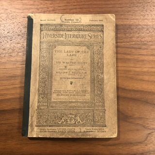 """1892 Old Book """" The Lady Of The Lake """" By Sir Walter Scott Small Victorian"""